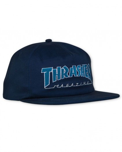 THRASHER OUTLINED SNAPBACK NAVY